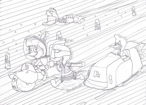 Duck Squad on the Road by MrNintMan