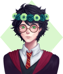 Flower Crown Harry by laumin
