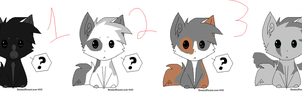 wolf adoptables (2/4 sold) i made them 1 point by bronik123