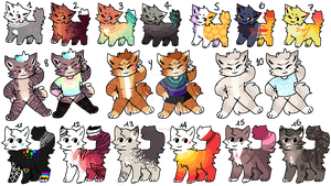 BATCH OPEN 16/16 by AdoptionAdoptables