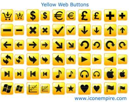 Yellow Web Buttons by Ikont