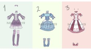[Auction][CLOSED] Outfit Batch 4 by tinyhito