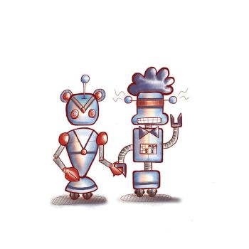 Kitty and Sweetie Bots by shikkaba