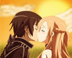 Kirito and Asuna (SAO) by ObscureLilium
