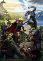 Wrathborn cover art. The Battle for Blue Seal Bay by Feael