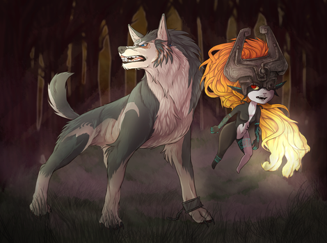 Legend of Zelda Twilight Princess Drawing. Midna a by ChewieCoo