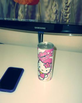 Hello Kitty energy drink by scope66