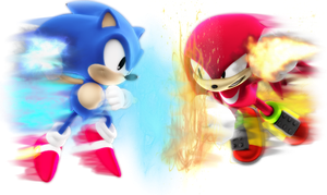 Sonic V.S Knuckles by ModernLixes
