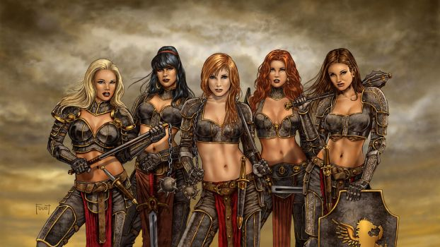 Sisters of Divine Retribution Desktop by MitchFoust