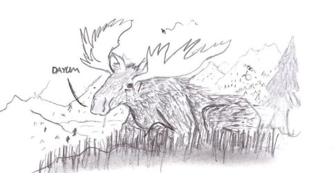 Moose by Pseudocompsognathus