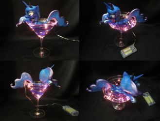 Luna in a Martini Glass (multiple angles) by EarthenPony