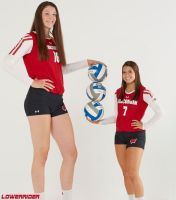 Tall and short volleyball players by lowerrider