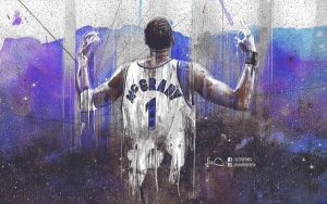 Tracy McGrady NBA Wallpaper by skythlee
