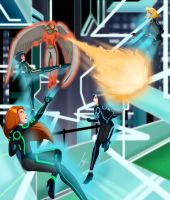 Totally Spies vs Cyber Silverwing in The Internet by laeity