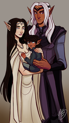 Family Portrait by naomimakesart