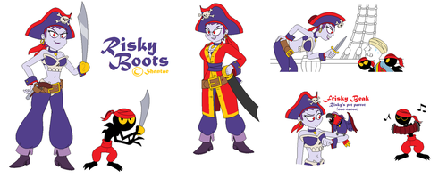 Risky Boots drawings by BlackRobtheRuthless
