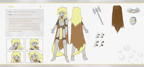 Commission character sheet Derpy by HowXu
