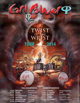 Carl Palmer 2014 UK World Tour poster by Cynthia-Blair