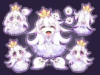 [+SPEEDPAINT] Booette (Queen Boo)| King Boo by Yitsune-Melody