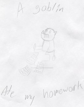 A Goblin Ate My Homework by Mr86Returns