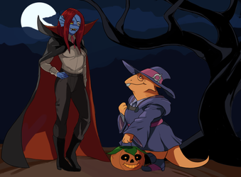 Alphyne Halloween (Collab with MidLuuna) by PancrythePancreas5