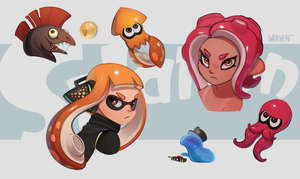 Some Splatoon Doodles by ItsWolven