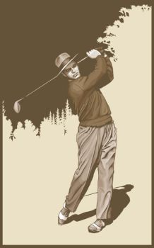 Vintage Golfer by mftalon