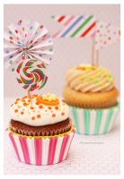 Carrot Cake and Passion Fruit Cupcakes by theresahelmer