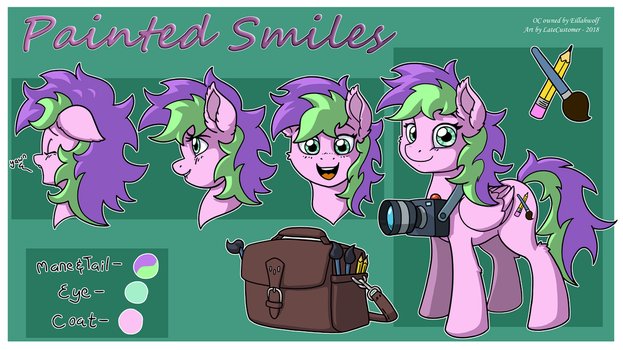 Painted Smiles Ref. Sheet by LateCustomer