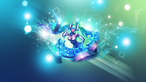 Dj Sona Kinetic ~ League of legends - Wallpaper by Aynoe