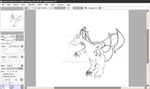 charizard (not finished) by 5MinSketcher