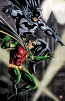 Batman and Robin Color Version by WiL-Woods