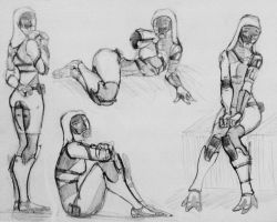 sketches Tali (130) by spaceMAXmarine