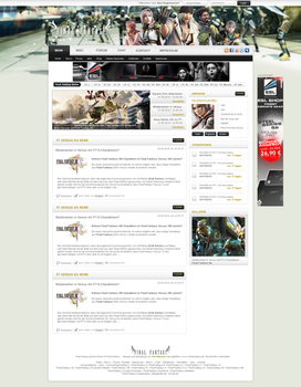 Final Fantasy XIII Webdesign by Renjir0