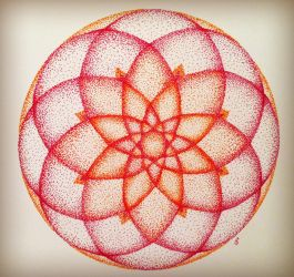 Stippled Mandala by lovedolphins10409