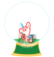 Christmas Chibi Snowglobe YCH Open! by Warm-Love