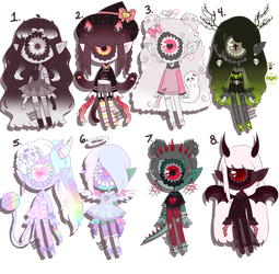 October Spook batch [3/8 OPEN] by hello-planet-chan