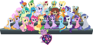 MLP Vector - The Class of Friendship by jhayarr23