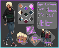 Reference Sheet ~ Fredric Alex Fayannite by Asteripheus