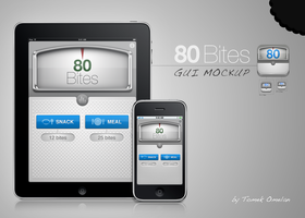 80 Bites GUI Mockup by tomeqq