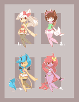 { Random Adopts } - closed - [ EDIT ] by curled-mustache