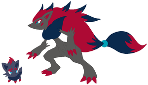 Zorua and Zoroark Base by SelenaEde