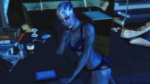 Mass effect wallpaper - Liara t'soni by ethaclane