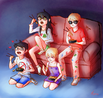 Homestuck: Sushi and Movies by Morisaurus