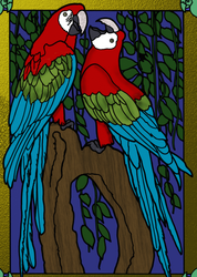 Parrots by Writer-Colorer