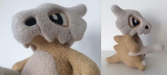 Needle Felt Cubone by Wool-Alchemist