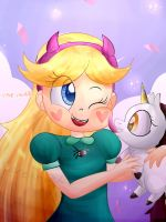 Star with Unicorn by mere-chan00