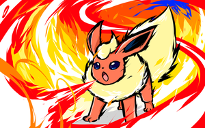 Flareon | Fire Spin by ishmam