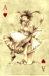 Cards: ace of hearts by Katheairene