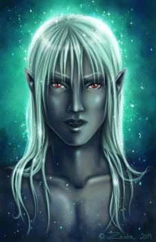 Glowy drow by Zardra